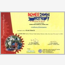 ACME 2004 Certificate - Star Trace